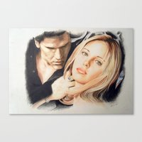 buffy the vampire slayer Canvas Prints featuring Buffy - The Vampire Slayer by ChiaraG27