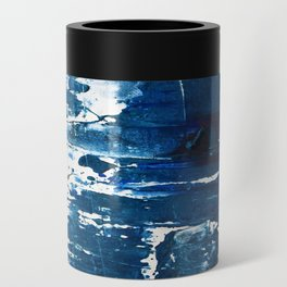Tranquil: a minimal, abstract piece in blue by Alyssa Hamilton Art Can Cooler