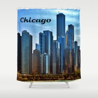 chicago Shower Curtains featuring Chicago by gypsykissphotography