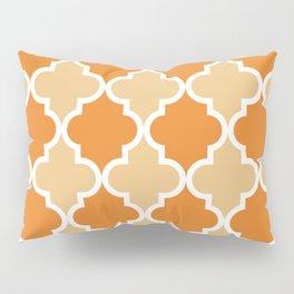 Quatrefoil - Orange and Tan Pillow Sham