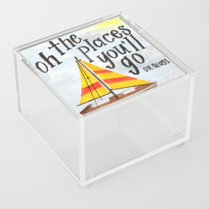 Oh the Places You'll Go - Dr. Seuss Acrylic Box