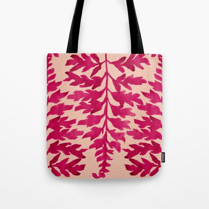 Pink Fern Tote Bag