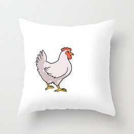 Funny Hens Before Friends Chicken Gift Chickens Product Throw Pillow