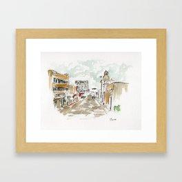 Downtown Beaumont Framed Art Print