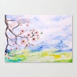 Spring fields Canvas Print