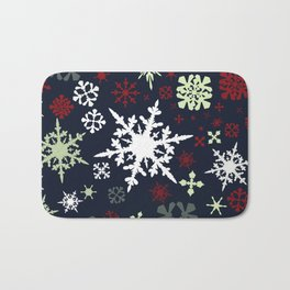 Christmas pattern with snowflakes Bath Mat