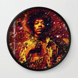 Jimi Hendrix | Pop Art | Old School Collection Wall Clock