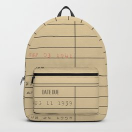 Library card Backpack