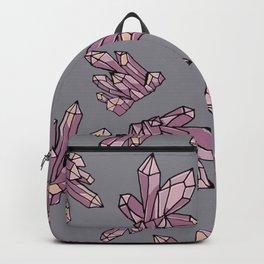Purple Amethyst Crystal Pattern Backpack