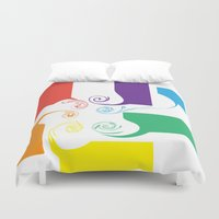 facebook Duvet Covers featuring Facebook by Scott Aichner