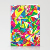 rave Stationery Cards featuring Rave Paint by Mariah Williams