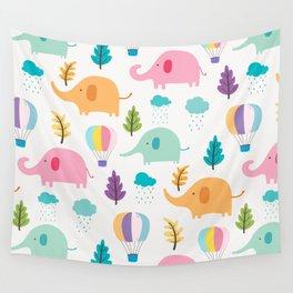 Cute Elephant Wall Tapestry