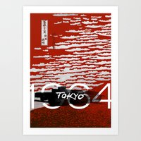 tokyo Art Prints featuring Tokyo by Artworks by PabloZarate Inc.