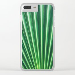 Palm Leaf Texture Clear iPhone Case