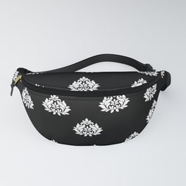 DAMASK VICTORIAN BLACK AND WHITE PATTERN Fanny Pack