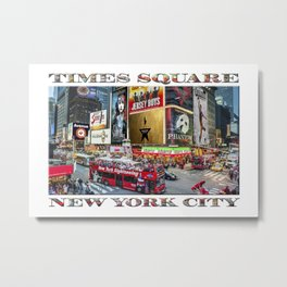 Times Square II (widescreen poster on white) Metal Print