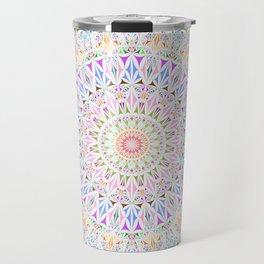 Colorful Tribal Triangle Mandala Travel Mug