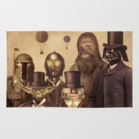vader Area & Throw Rugs featuring Victorian Wars  by Terry Fan