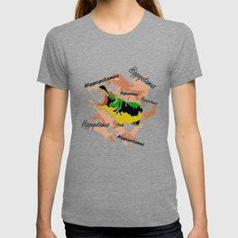 Hippopotamus Yellow/Green T-shirt