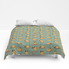 Pug Yoga Comforters