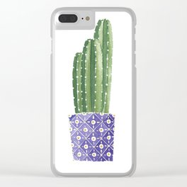 Cactus Best Friends - Cereus Clear iPhone Case