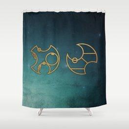 Doctor Who in Circular Gallifreyan Shower Curtain