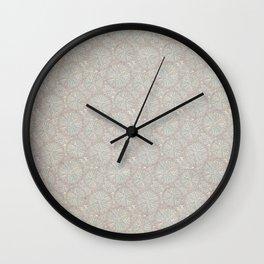 Intricate Purple Grunge Wall Clock