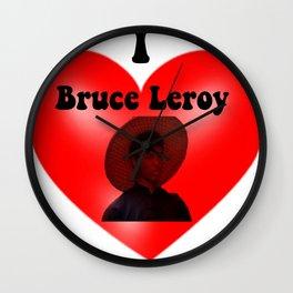 I Heart Bruce Leroy  Wall Clock
