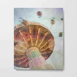 Summer Fling - Whimsical Fairground Modern Home Decor Metal Print