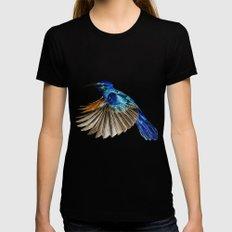 Blue Hummingbird Black Womens Fitted Tee X-LARGE