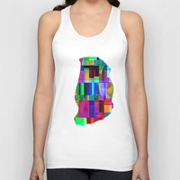 glitch Tank Tops featuring GLITCH by C O R N E L L