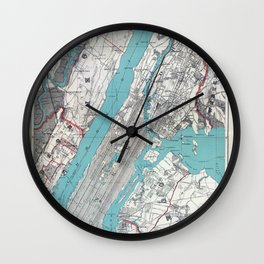 New York 1890 Wall Clock