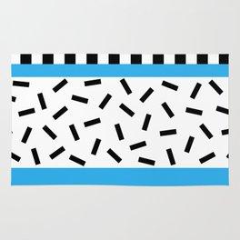 Memphis Geometric Blue Rug