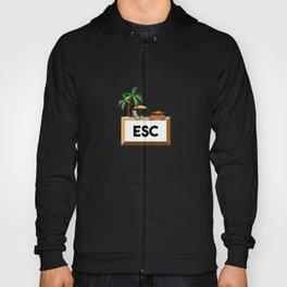 Esc Vacation Escape Key Professional Programmer Hoody