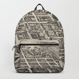 Vintage Pictorial Map of Reno Nevada (1907) Backpack