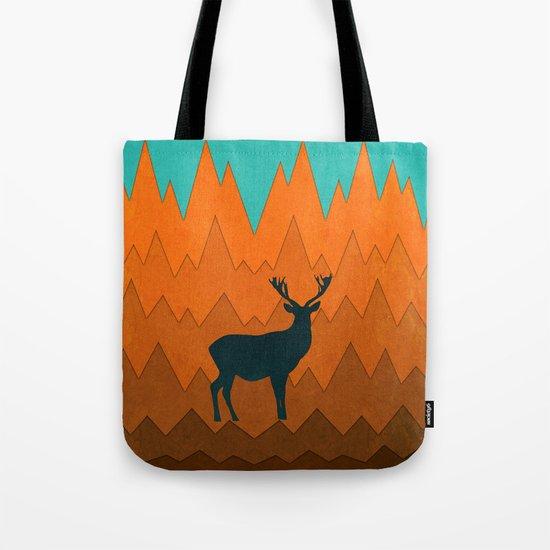 Deer silhouette in autumn Tote Bag