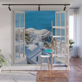 Santorini Greece | OPEN WINDOW ART Wall Mural