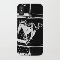 mustang iPhone & iPod Cases featuring Mustang  by Heidi Maly
