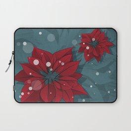 Poinsettias - Christmas flowers   BG Color II Laptop Sleeve
