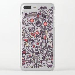Smoove Cyborg Saturday Night Clear iPhone Case