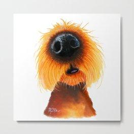 Dog PRiNT ANiMaL PRiNT 'SMeLLs LiKE SuNShiNe' by Shirley MacArthur Metal Print