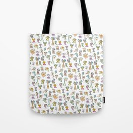 Scribbehead_Montage of Characters Tote Bag
