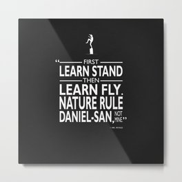 First Learn Stand Metal Print