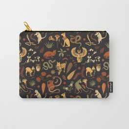 Egyptian house guardians   black Carry-All Pouch