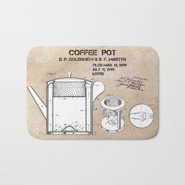 Coffee pot Goldsmith Martyn patent art 1899 Bath Mat