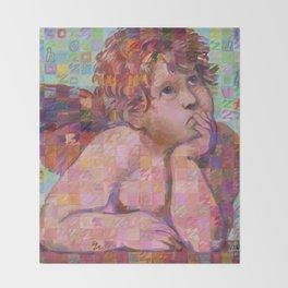 Sistine Cherub No. 1 Throw Blanket