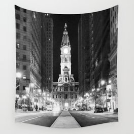 Philly by Night Wall Tapestry