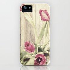 rustic tulips Slim Case iPhone (5, 5s)