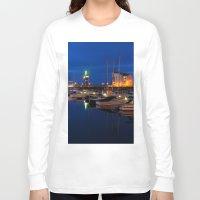 marina Long Sleeve T-shirts featuring Ardrossan Marina by Paul & Fe Photography