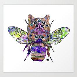 Buzzing right meow Art Print